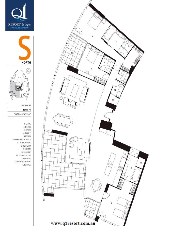 Q1 4 bedroom apartment floor plan for Four bedroom flat floor plan